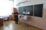 Учащиеся 8в класса на уроке,посвящённом 100 - летию со дня рождения Ж.Тумунова