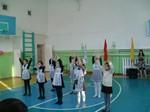 Торжественная линейка, посвященная дню рождения школы